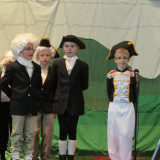 2nd and 4th graders sang about the exciting adventures of Lewis and Clark